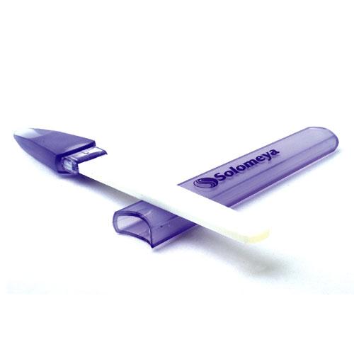 SOLOMEYA Пилочка для ногтей керамическая в футляре / Ceramic Nail File