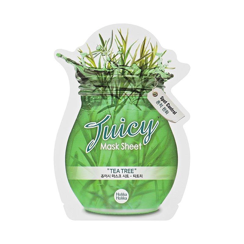 HOLIKA HOLIKA Маска тканевая для лица (чайное дерево) Джуси Маск / Juicy Mask Sheet Tea tree 20мл