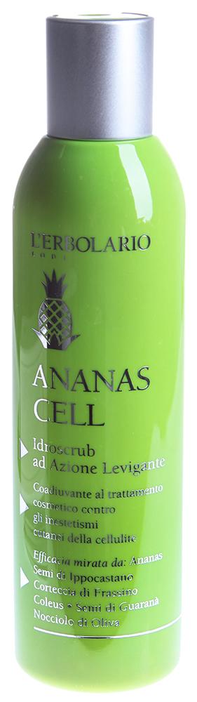 LERBOLARIO Антицеллюлитный гидроскраб для тела Ананас 200 млСкрабы<br>Антицеллюлитный гидроскраб для тела &amp;laquo;Ананас&amp;raquo; разработан для мягкой, но глубокой очистки кожи от отмерших клеток эпидермиса. Это средство используется как подготовительный этап, предваряющий нанесение основных косметических кремов для борьбы с целлюлитом. Оно способствует более глубокому проникновению других средств по уходу, усиливая таким образом их эффективность. Антицеллюлитный гидроскраб также полирует кожу за счет растительных микрогранул в своем составе. Он делает кожу более гладкой и мягкой, помогает ей восстановить здоровый цвет. Благодаря этому средству кожа обретает возможность дышать, она становится более упругой и эластичной.  Активные ингредиенты: Экстракт стебля ананаса, экстракт семян конского каштана, экстракт коры ясеня, сухой экстракт колеуса бородатого, конъюгированная линолевая кислота и карнитин, микрогранулы из семян гуараны, микрогранулы из оливковой косточки, натуральные эфирные масла лимона, герани, розмарина, шалфея мускатного, сибирской ели.  Способ применения: Помассируйте влажную кожу зон, затронутых целлюлитом, руками или с помощью гидронасадки душа, нанеся приблизительно чайную ложку гидроскраба на каждый участок, затронутый целлюлитом, смойте гидроскраб теплой водой.<br><br>Вид средства для тела: Антицеллюлитный<br>Назначение: Целлюлит