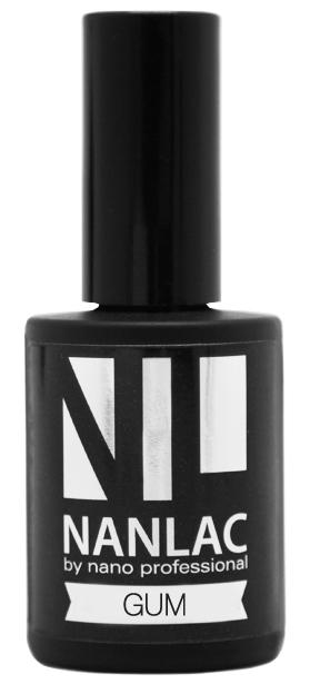 NANO PROFESSIONAL Гель-лак базовый для ногтей / NANLAC Gum 15 мл