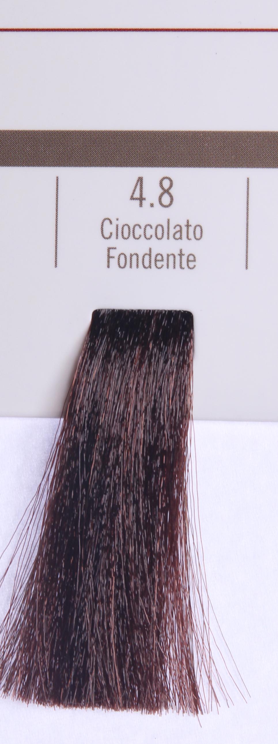 BAREX 4.8 краска для волос / PERMESSE 100млКраски<br>Оттенок: Горький шоколад. Профессиональная крем-краска Permesse отличается низким содержанием аммиака - от 1 до 1,5%. Обеспечивает блестящий и натуральный косметический цвет, 100% покрытие седых волос, идеальное осветление, стойкость и насыщенность цвета до следующего окрашивания. Комплекс сертифицированных органических пептидов M4, входящих в состав, действует с момента нанесения, увлажняя волосы, придавая им прочность и защиту. Пептиды избирательно оседают в самых поврежденных участках волоса, восстанавливая и защищая их. Масло карите оказывает смягчающее и успокаивающее действие. Комплекс пептидов и масло карите стимулируют проникновение пигментов вглубь структуры волоса, придавая им здоровый вид, блеск и долговечность косметическому цвету. Активные ингредиенты:&amp;nbsp;Сертифицированные органические пептиды М4 - пептиды овса, бразильского ореха, сои и пшеницы, объединенные в полифункциональный комплекс, придающий прочность окрашенным волосам, увлажняющий и защищающий их. Сертифицированное органическое масло карите (масло ши) - богато жирными кислотами, экстрагируется из ореха африканского дерева карите. Оказывает смягчающий и целебный эффект на кожу и волосы, широко применяется в косметической индустрии. Масло карите защищает волосы от неблагоприятного воздействия внешней среды, интенсивно увлажняет кожу и волосы, т.к. обладает высокой степенью абсорбции, не забивает поры. Способ применения:&amp;nbsp;Крем-краска готовится в смеси с Молочком-оксигентом Permesse 10/20/30/40 объемов в соотношении 1:1 (например, 50 мл крем-краски + 50 мл молочка-оксигента). Молочко-оксигент работает в сочетании с крем-краской и гарантирует идеальное проявление краски. Тюбик крем-краски Permesse содержит 100 мл продукта, количество, достаточное для 2 полных нанесений. Всегда надевайте подходящие специальные перчатки перед подготовкой и нанесением краски. Подготавливайте смесь крем-краски и молочка-оксигента Permesse в неметалличес