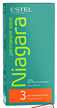 ESTEL PROFESSIONAL Набор для химической завивки для окрашенных волос / NIAGARAНаборы<br>Набор для химической завивки Niagara : Естественные локоны Мягкое воздействие на волосы Близкий к нейтральному запах Удобный экономичный формат&amp;nbsp; Не содержит тиогликолят Набор включает в себя: лосьон, фиксаж, перчатки и инструкцию.<br><br>Типы волос: Окрашенные