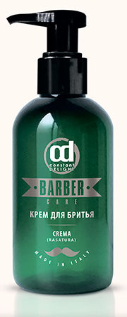 CONSTANT DELIGHT Крем для бритья / BARBER 150 млДля бритья<br>Превосходно подготавливает кожу к бритью, позволяет сделать его более комфортным, быстрым и чистым. В состав крема входит Масло Жожоба для увлажнения кожи и Ментол, обеспечивающий охлаждающий эффект. Крем применим для всех типов кожи. Активные компоненты: Масло Жожоба, Ментол. Способ применения: небольшое количество продукта, растереть в ладонях и нанести на кожу лица и шеи, затем приступить к бритью. После бритья ополоснуть лицо водой. Дополнительное применение СМЯГЧАЮЩЕГО МАСЛА до процедуры бритья позволит смягчить кожу, волосы бороды и усов, а также избежать легких порезов.<br><br>Пол: Мужской