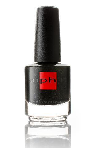 SOPHIN Лак для ногтей, темно-серый с золотым шиммером 12мл