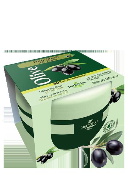MADIS Маска для волос с маслом оливы питание и увлажнение от выпадения / HerbOlive 250 мл -  Маски