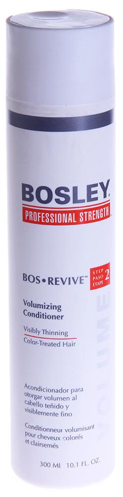 BOSLEY Кондиционер для объема истонченных окрашенных волос / ВОS REVIVE (step 2) 300млКондиционеры<br>Не содержащий парабенов, увеличивающий объем кондиционер для заметно истонченных волос. Действие: Наполняет волосы жизненной силой, разглаживает и увеличивает объем. Придает блеск и утолщает заметно истонченные волосы. Позволяет продлить долговечность цвета окрашенных волос с системой ColorKeeper&amp;trade;. Активные ингредиенты: LifeXtend&amp;trade; Комплекс. Экстракт Карликовой Пальмы. Экстракт Планктона. Color Keeper&amp;trade;. Способ применения: Применять ежедневно. Нанести небольшое количество на чистые, влажные, вымытые Шампунем Питательным волосы, равномерно распределить по всей длине волос и коже головы, оставить для воздействия на пять минут и смыть.<br><br>Вид средства для волос: Питательный