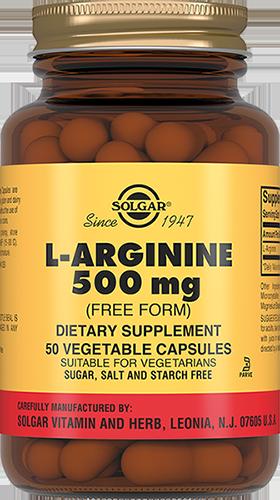 SOLGAR L-Аргинин, капсулы 500 мг № 50