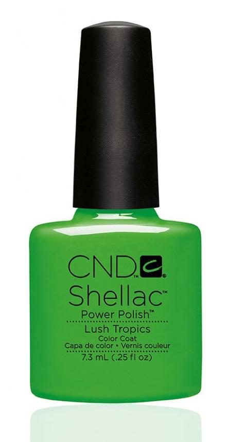 CND 90516 покрытие гелевое Lush Tropics / SHELLAC 7,3мл cnd 083 покрытие гелевое bare chemise shellac 7 3мл