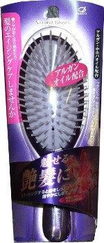 NANIWA Щетка для восстановления волос и придания блеска, эластичности и упругости волосам с маслом жожоба / GL-60 Ikemoto Brush