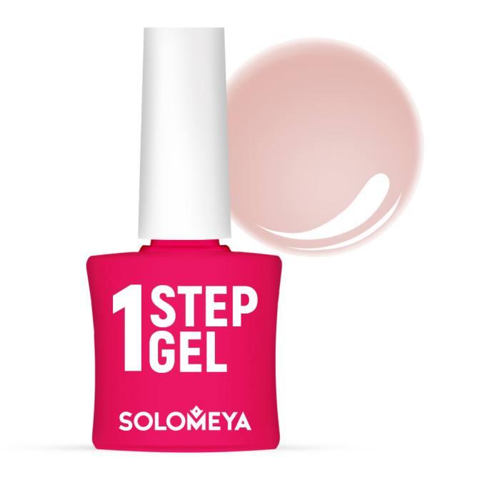 Купить SOLOMEYA Гель-лак однофазный для ногтей, 51 магнолия /One Step Gel Magnolia4, 5 мл, Розовые