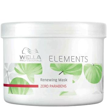 WELLA Маска обновляющая / Elements 500млМаски<br>ОБНОВЛЯЮЩАЯ МАСКА ELEMENTS Восстанавливает поврежденные волосы. Схраняет кератин в структуре волос. Не содержит сульфатов, парабенов и искусственных красителей. Содержит древесный эксракт, который восстанавливает внутреннее строение волоса и удерживая влагу внутри. При регулярном применении волосы сияют здоровьем, блестят и легко расчесываются. Способ применения: нанести после мытья шампунем массажными движениями. Выдержать 5 минут. Тщательно смыть.<br><br>Объем: 500 мл