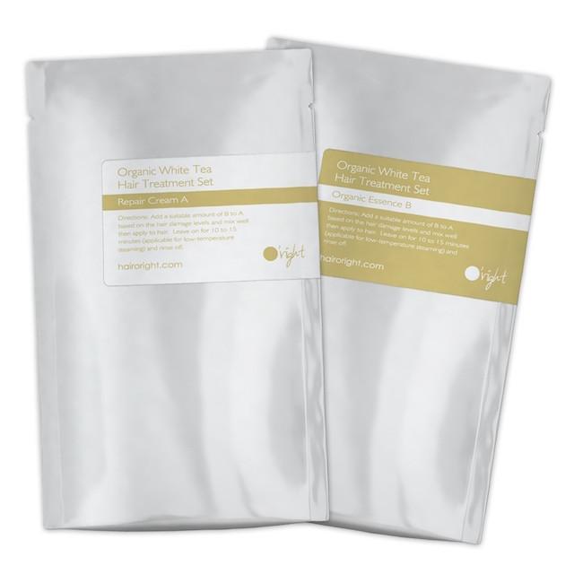 ORIGHT Набор для восстановления волос Белый чай (восстанавливающий крем А 50 мл, органическая эссенция B 30 мл) / Organic White Tea