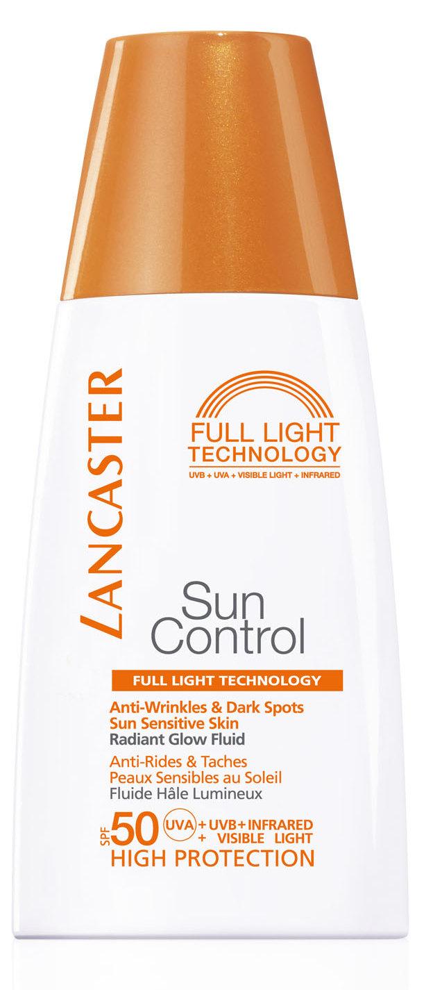 Купить LANCASTER Флюид солнцезащитный против морщин и пигментных пятен для лица Сияющий загар SPF 50 / Sun Control 30 мл