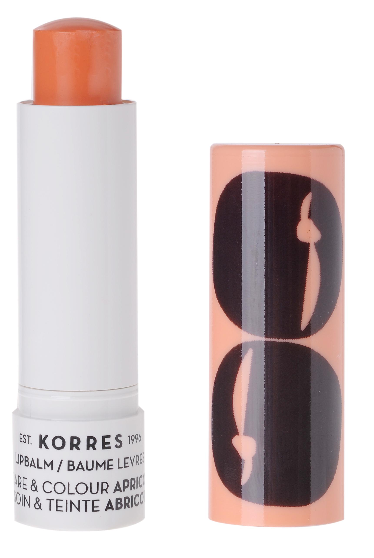 KORRES Бальзам-стик уход и цвет для губ, абрикос 5 мл - Бальзамы для губ