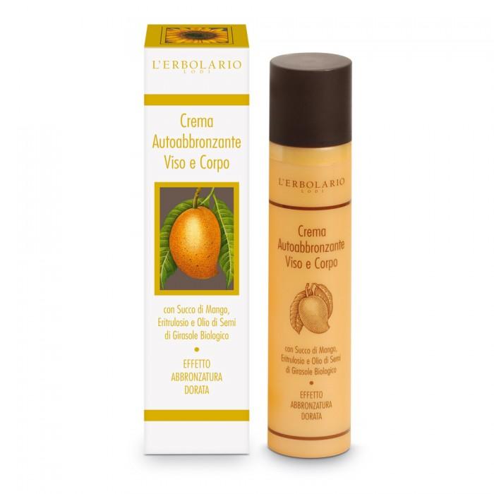 LERBOLARIO Крем-автозагар для лица и тела с соком манго 100мл