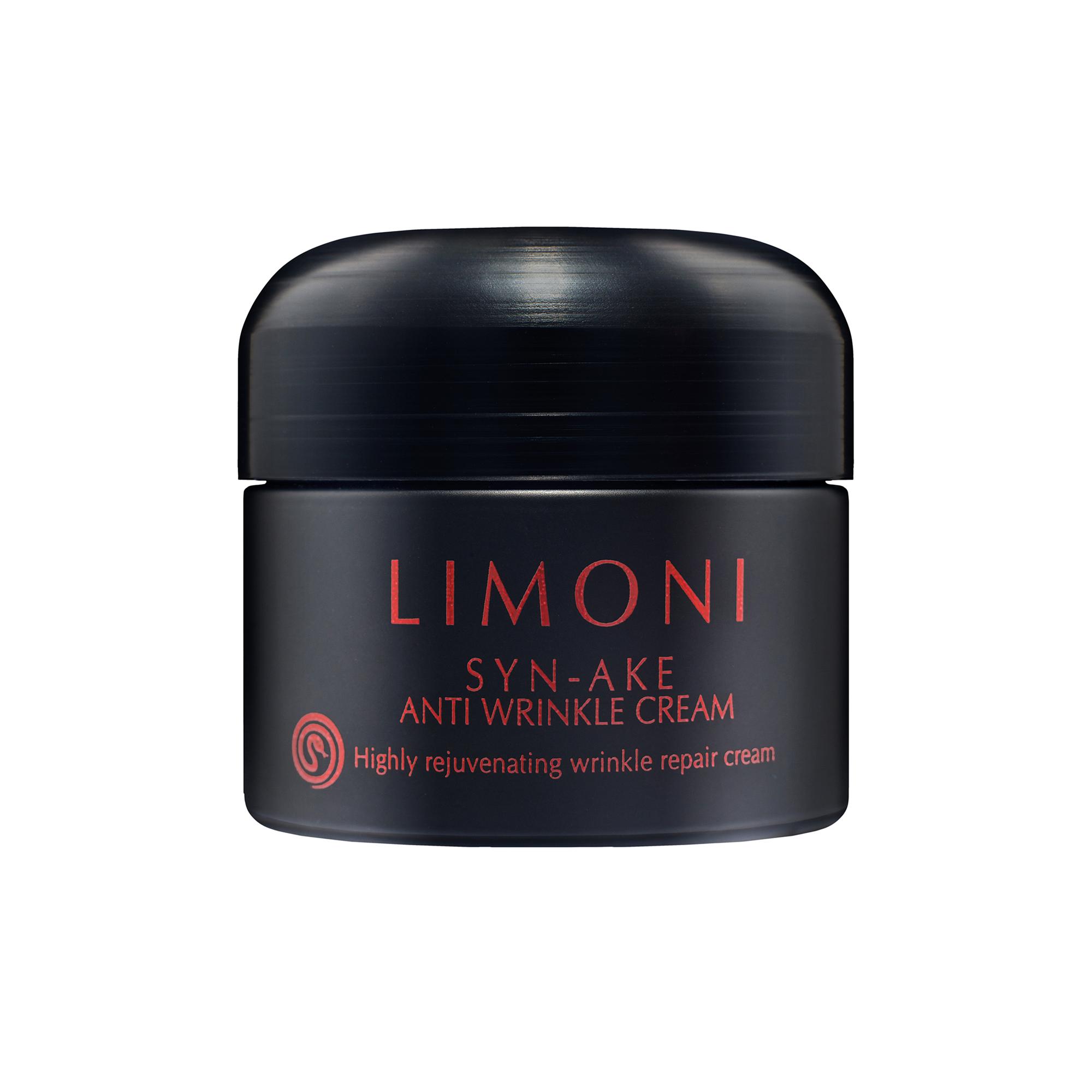 LIMONI Крем от морщин антивозрастной со змеиным ядом Syn-Ake Anti-Wrinkle Cream 50 млКремы<br>В составе крема SYN-AKE ANTI WRINKLE CREAM есть около 4% синтетического змеиного токсина Syn-Ake. Крем оказывает антивозрастное воздействие и разглаживает морщины. Он питает кожу, повышая ее эластичные свойства и упругость. Как следствие, кожа становится мягкой, гладкой и подтянутой. Ежедневное применение крема приведет к существенному сокращению морщин. Крем с трипептиом Syn-Ake оказывает схожее действие как инъекции ботокса, кожа разглаживается и подтягивается, мелкие мышцы не сокращаются. Результат быстрый и видимый на лицо! SYN-AKE   это пептид, что предназначен для расслабления лицевых мышц, что ответственные за образования мимических морщин. Пептиду свойственны разглаживающие свойства и на протяжении нескольких дней он уменьшает глубину морщин. SYN-AKE создали шведские ученые.<br><br>Вид средства для лица: Антивозрастной