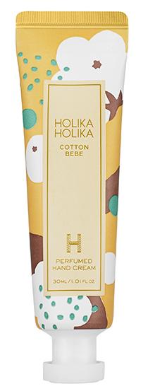 Купить HOLIKA HOLIKA Крем питательный для рук Перфьюм Хэнд Крим, хлопок / Cotton Bebe Perfumed Hand Cream 30 мл