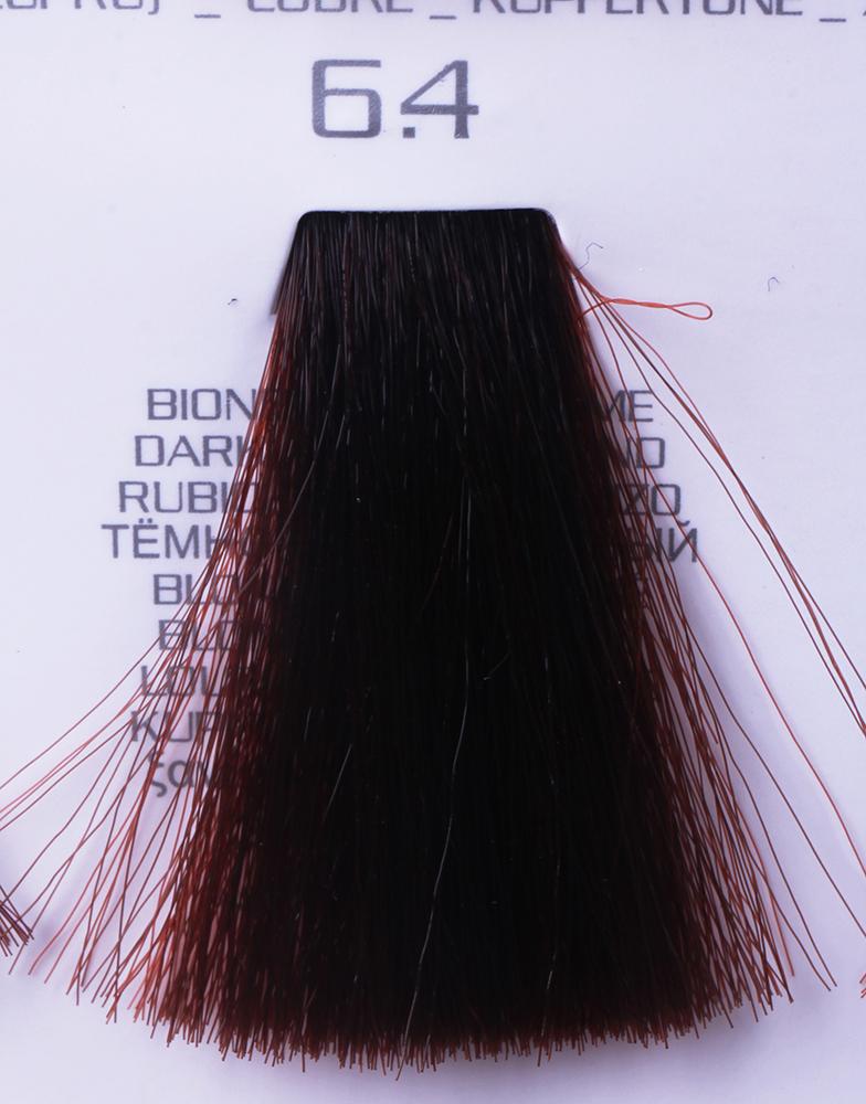 HAIR COMPANY 6.4 краска для волос / HAIR LIGHT CREMA COLORANTE 100млКраски<br>6.4 тёмно-русый медныйHair Light Crema Colorante   профессиональный перманентный краситель для волос, содержащий в своем составе натуральные ингредиенты и в особенности эксклюзивный мультивитаминный восстанавливающий комплекс. Минимальное количество аммиака позволяет максимально бережно относится к структуре волоса во время окрашивания. Содержит в себе растительные экстракты вытяжку из арахиса, лецитин, витамин А и Е, а так же витамин С который является природным консервантом цвета. Применение исключительно активных ингредиентов и пигментов высокого качества гарантируют получение однородного, насыщенного, интенсивного и искрящегося оттенка. Великолепно дает возможность на 100% закрасить даже стекловидную седину. Наличие 6-ти микстонов, а так же нейтрального бесцветного микстона, позволяет достигать получения цветов и оттенков. Способ применения: смешать Hair Light Crema Colorante с Hair Light Emulsione Ossidante в пропорции 1:1,5. Время воздействия 30-45 мин.<br><br>Вид средства для волос: Восстанавливающий<br>Класс косметики: Профессиональная