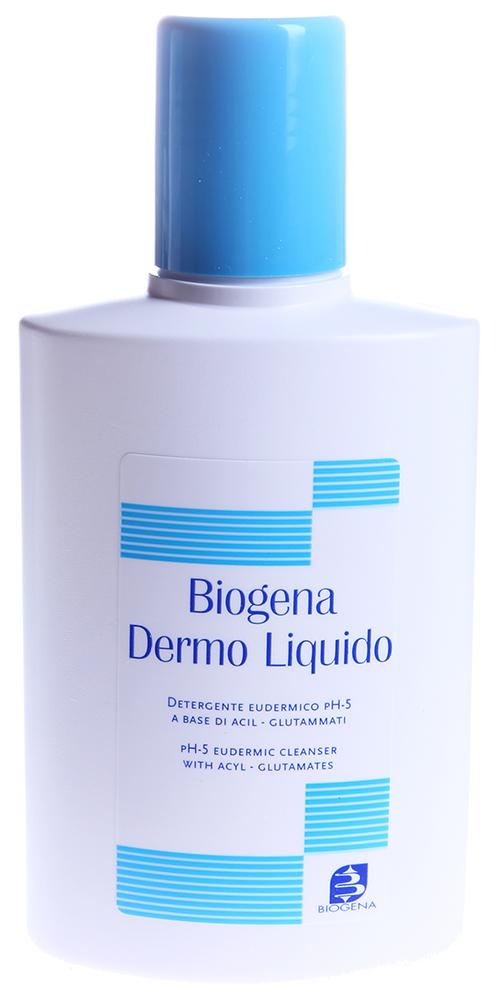 BIOGENA Гель деликатный для душа / BIOGENA 250млГели<br>Biogena Dermo Liquido - идеальное ультрамягкое жидкое мыло, не нарушающее естественные механизмы защиты кожи и обеспечивающее ее нормализацию за счет восстановления уровня кислотности чувствительной сухой больной кожи. Нормальный уровень кислотности здоровой кожи (pH=5.0 -5.5) является лучшей защитой от многих кожных проблем различной природы, характеризующихся сухостью, шелушением покраснением и зудом.  Biogena Dermo Liquido - это специальное средство на основе аминокислот (ацилглутаматов) и защитных, успокаивающих и препятствующих потере кожей влаги веществ. Ацил-глютаматы имеют растительное происхождение. Они идеально подходят гигиены гиперчувствительной кожи, не вызывают раздражения или аллергии. Компоненты ацил-глютаматов дермосовместимы, поэтому подходят даже для детской гигиены. Biogena Dermo Liquido очень мягко очищает кожу и одновременно обеспечивает ей физиологическую кислотность (рН 5).Восстановление кислотного баланса осуществляется очень быстро, а его эффект длится до 8 часов после применения. Biogena Dermo Liquido содержит также растительные смягчающие и противовоспалительные вещества (гель из листьев мальвы и соевые протеины), придающие коже особую мягкость и увлажненность. Жидкое мыло Biogena Dermo Liquido предназначено для ежедневного ухода за кожей со следующими проблемами: сухость, шелушение, зуд, покраснения и/ или нарушения микробной флоры эпидермиса. Характерное для Biogena Dermo Liquido длительное действие по восстановлению сохранению кислотного баланса способствует сохранению и /или восстановлению естественных защитных способностей кожи и ее подготовке к различным процедурам.  Способ применения: Для принятия ванны всего тела (или его частей) растворить половину столовой ложки средства в 20-25 литрах теплой воды. Высушить не смывая.Для прямого мытья нанести около половины столовой ложки средства на влажные руки или смоченную губку. Легкими массирующими движениями вымыть тела и затем споло