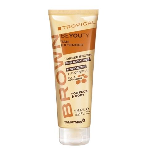 TANNYMAXX Лосьон с бронзатором после загара / Tropical Beyouty BROWN 125млЛосьоны<br>Закрепляет и дополнительно усиливает эффект загара за счет бронзаторов и меланина. Освежает и тонизирует кожу. Увлажняет кожу, способствуя проявлению устойчивого загара. Обеспечивает кожу витаминами и минералами. Препятствует образованию мелких морщин. Активный состав: Меланин, тирозин, натуральный экстракт сахарного тростника, алоэ вера, витамин А, витамин Е, витамин С, масло Ши, экстракт ананаса, экстракт папайи, бисаболол, экстракт магнолии. Применение: После загара в солярии, после загара на солнце, после душа. Подходит для ежедневного применения. Для лица и тела. Равномерно нанести после сеанса загара/душа. Тщательно вымыть/очистить руки после нанесения.<br><br>Объем: 125