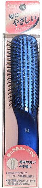 NANIWA Щетка для жирных волос антибактериальная синяя / SEN-705L Ikemoto Brush