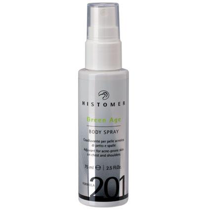 HISTOMER Спрей нормализующий для тела при проблемной коже Грин-Эйдж / Green Age Body Spray FORMULA 201 75 мл