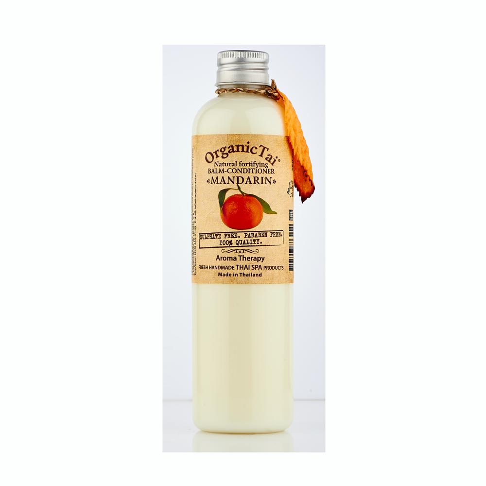ORGANIC TAI Бальзам-кондиционер натуральный укрепляющий Мандарин 260мл organic tai массажное масло для лица жасмин жожоба и сладкий миндаль 120 мл