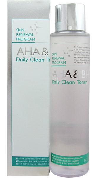 Купить MIZON Тоник увлажняющий с AHA и BHA кислотами для лица / AHA & BHA DAILY CLEAN TONER 150 мл