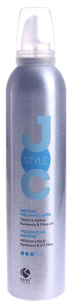 BAREX Мусс-объем средней фиксации с пантенолом и УФ фильтрами / JOC STYLE 300 мл спрей мусс barex мусс средней фиксации с пантенолом и уф фильтрами
