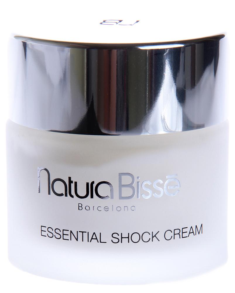 NATURA BISSE Крем укрепляющий с изофлавонами для очень сухой кожи / Cream + Isoflavones ESSENTIAL SHOCK 75млКремы<br>Essential Shock Cream + isoflavones   интенсивный укрепляющий крем для очень сухой зрелой кожи. Указанные свойства крема обеспечиваются содержанием в нем свободных натуральных аминокислот, входящих в состав коллагена и эластина. Высокое содержание в препарате липидов позволяет вернуть коже утраченную влагу и значительно сократить количество морщин. Изофлавоны, получаемые из экстрактов зародышей бобов сои и корней флорентийского ириса, эффективно уменьшают возрастные изменения, происходящие в зрелой коже. Восстанавливает влажность, упругость и эластичность сухой кожи. Разглаживает морщины. Активные ингредиенты: натуральные свободные аминокислоты коллагена и эластина, экстракты зародышей бобов сои и корней флорентийского ириса. Способ применения: наносить на предварительно очищенную кожу лица, шеи и области декольте утром и/или вечером. Массировать до полного впитывания.<br><br>Объем: 75<br>Вид средства для лица: Укрепляющий<br>Возраст применения: После 45<br>Назначение: Морщины