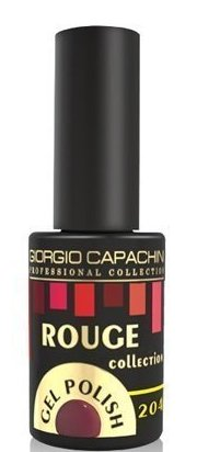 GIORGIO CAPACHINI 204 гель-лак трехфазный для ногтей / Rouge 7 мл.