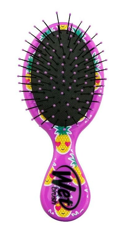 Купить Wet Brush Щетка для спутанных волос мини размера, веселый ананас / WET BRUSH MINI HAPPY HAIR (Smiley Pineappl)