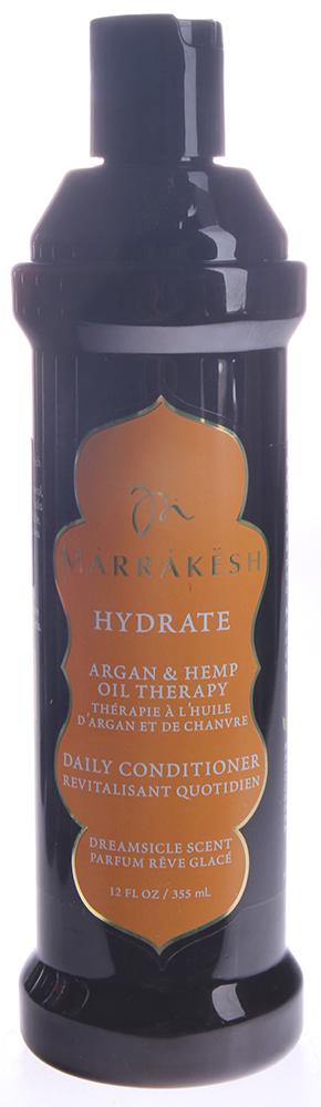 MARRAKESH Кондиционер для тонких волос Dreamsicle /Marrakesh Hydrate Conditioner Dreamsicle 355 млКондиционеры<br>Линия Dreamsicle - бодрящее сочетание эфирного масла мандарина и фитоактивов сливы. Формула кондиционера для волос Marrakesh гармонично сочетает в себе питательные вещества арганового масла из Марокко, ультра укрепляющего конопляного масла и гидролизованный пшеничный протеин. Кондиционер хорошо увлажняет волосы, укрепляет их структуру, делает ваши волосы послушными, легко поддающимися укладке. Вы почувствуете, как волосы становятся шелковистыми и более блестящими. Подходит для всех типов волос. Безопасен для окрашенных волос. Способ применения: нанесите небольшое количество кондиционера по длине волос. Оставьте для воздействия на 1 минуту. Смойте водой.<br><br>Объем: 355 мл<br>Вид средства для волос: Укрепляющая