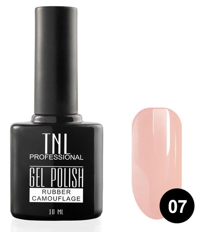TNL PROFESSIONAL 07 гель-лак камуфлирующий для ногтей / rubber camouflage 10 мл