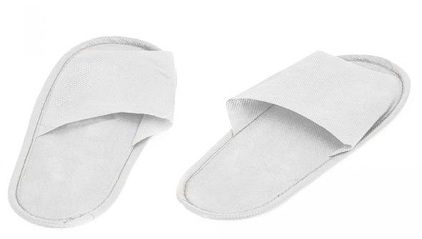 Купить IGRObeauty Тапочки ЭВА, нескользящие на жесткой подошве, открытый мыс, размер 43, цвет белый 1 пара