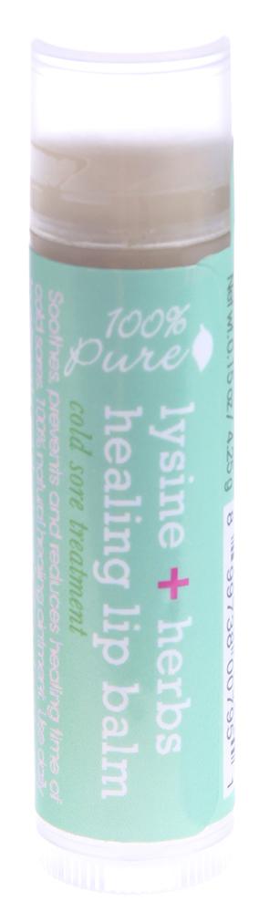 100% PURE Бальзам для губ, лизин и лечебные травы 4,25 г