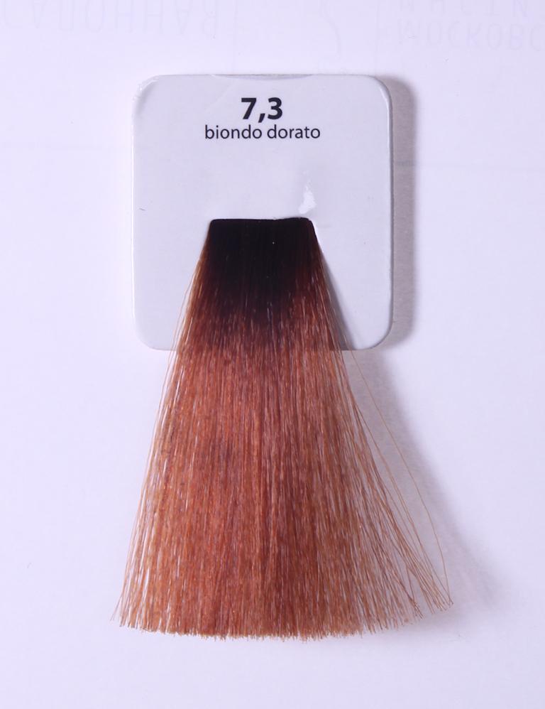 KAARAL 7.3 краска для волос / Sense COLOURS 60мл~Краски<br>7.3 золотистый блондин Перманентные красители. Классический перманентный краситель бизнес класса. Обладает высокой покрывающей способностью. Содержит алоэ вера, оказывающее мощное увлажняющее действие, кокосовое масло для дополнительной защиты волос и кожи головы от агрессивного воздействия химических агентов красителя и провитамин В5 для поддержания внутренней структуры волоса. При соблюдении правильной технологии окрашивания гарантировано 100% окрашивание седых волос. Палитра включает 93 классических оттенка. Способ применения: Приготовление: смешивается с окислителем OXI Plus 6, 10, 20, 30 или 40 Vol в пропорции 1:1 (60 г красителя + 60 г окислителя). Суперосветляющие оттенки смешиваются с окислителями OXI Plus 40 Vol в пропорции 1:2. Для тонирования волос краситель используется с окислителем OXI Plus 6Vol в различных пропорциях в зависимости от желаемого результата. Нанесение: провести тест на чувствительность. Для предотвращения окрашивания кожи при работе с темными оттенками перед нанесением красителя обработать краевую линию роста волос защитным кремом Вaco. ПЕРВИЧНОЕ ОКРАШИВАНИЕ Нанести краситель сначала по длине волос и на кончики, отступив 1-2 см от прикорневой части волос, затем нанести состав на прикорневую часть. ВТОРИЧНОЕ ОКРАШИВАНИЕ Нанести состав сначала на прикорневую часть волос. Затем для обновления цвета ранее окрашенных волос нанести безаммиачный краситель Easy Soft. Время выдержки: 35 минут. Корректоры Sense. Используются для коррекции цвета, усиления яркости оттенков, создания новых цветовых нюансов, а также для нейтрализации нежелательных оттенков по законам хроматического круга. Содержат аммиак и могут использоваться самостоятельно. Оттенки: T-AG - серебристо-серый, T-M - фиолетовый, T-B - синий, T-RO - красный, T-D - золотистый, 0.00 - нейтральный. Способ применения: для усиления или коррекции цвета волос от 2 до 6 уровней цвета корректоры добавляются в краситель по Правилу пятнадца