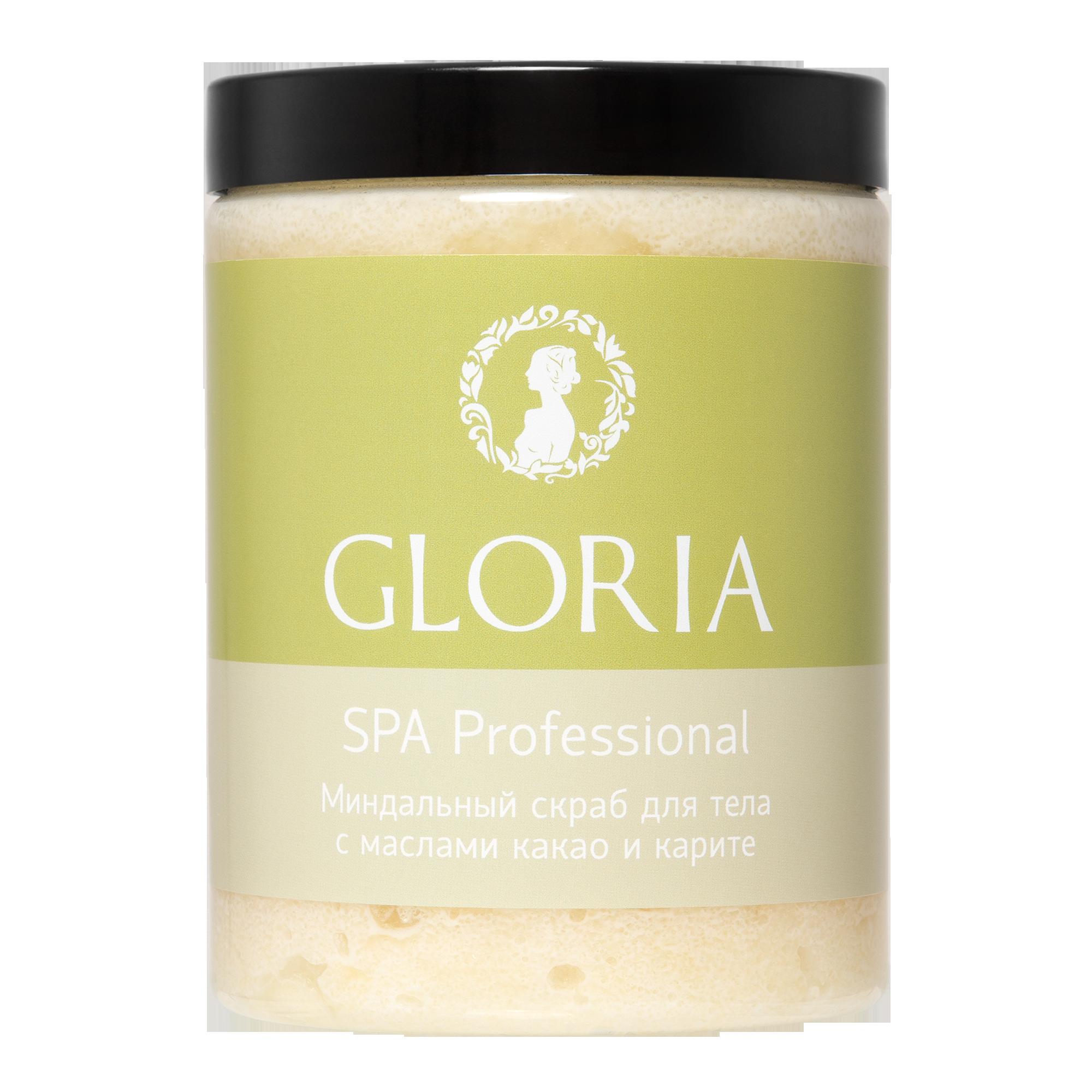 GLORIA Скраб миндальный для тела с маслами какао и каритэ / GLORIA SPA, 1000 мл
