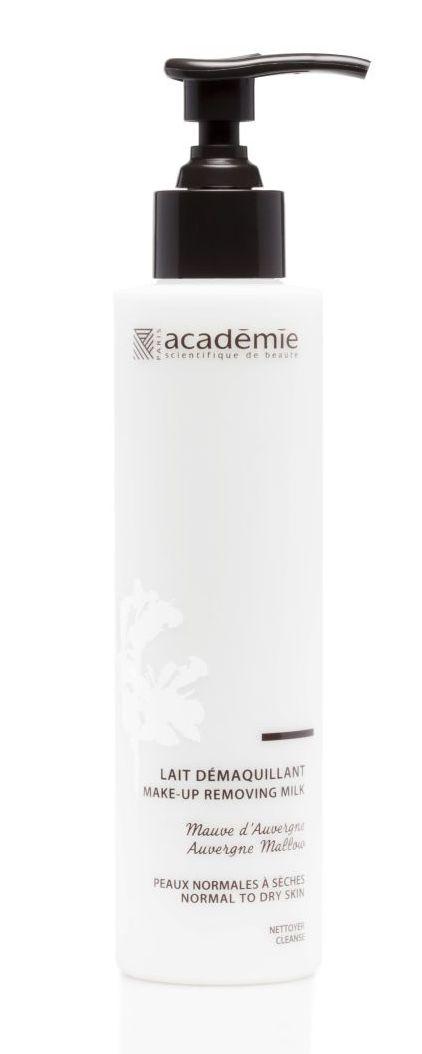 ACADEMIE Молочко для демакияжа / AROMATHERAPIE 200млМолочко<br>Молочко для демакияжа Овернская мальва. Для нормальной и сухой кожи. Нежное молочко деликатно снимает макияж и очищает кожу. Устраняет ощущение дискомфорта, делая кожу мягкой. Кожа очищенная, мягкая и нежная. Активные ингредиенты: растительный комплекс 1,2%: эссенциальное масло французской лаванды, экстракт лимона, увлажняющее средство растительного происхождения 2%. Способ применения: при помощи ватного диска нанести средство на лицо и шею. Далее использовать тонизирующий лосьон. Можно использовать в качестве средства для демакияжа глаз.<br>
