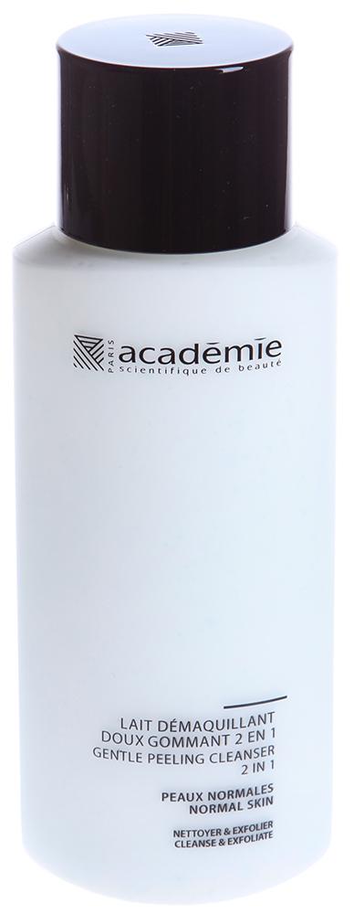 ACADEMIE Молочко мягкий пилинг 2 в 1 / VISAGE 250млПилинги<br>Молочко прекрасно подойдет для ежедневного комфортного очищения кожи. Обладает эффектом поверхностного пилинга, удаляет макияж, загрязнения, выравнивает рельеф кожи. Полиэтиленовые шарики, входящие в состав молочка, не оказывают травмирующего действия даже на самую тонкую кожу. Результат: Невероятно чистая, обновленная, увлажненная кожа. Активные ингредиенты: очищающий агент 3 %, оригинальная яблочная вода 1 %,&amp;nbsp;экстракт свеклы 1 %, Алоэ вера 0.5 %, полиэтиленовые шарики 0.35 %, экстракт мальвы 0.2 %, экстракт овса 0.2 %, активные компоненты 6.25 %. Способ применения:&amp;nbsp;применять 1-2 раза в день для очищения кожи. Нанести немного молочка на кожу легкими массажными движениями, смыть теплой водой, приступить к этапу тонизирования.<br><br>Объем: 250 мл<br>Консистенция: Мягкая