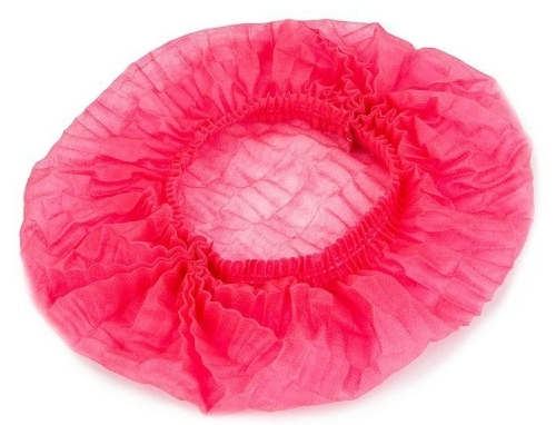IGRObeauty Шапочка Шарлотта, двойная резинка, цвет розовый 25 шт