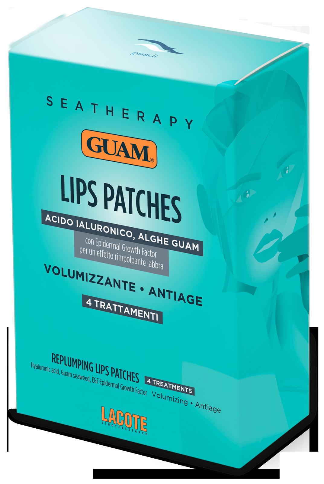 GUAM Патчи для увеличения объема губ / SEATHERAPY 4 шт