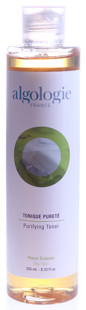 ALGOLOGIE Тоник очищающий 250млТоники<br>Лосьон апельсинового цвета с цитрусовым запахом, не содержит спирта для очищения и тонизирования жирной и проблемной кожи. Действие: нормализует деятельность сальных желез, уменьшает диаметр пор, обладает вяжущим и противовоспалительным свойством. Уровень рН - 4,5, поэтому способствует восстановлению рН жирной кожи. Активные ингредиенты: запатентованный комплекс Algopure, эфирные масла лимона и апельсина, экстракт гамамелиса, морская вода. Домашнее применение: утром/вечером наносить тоник на лицо и шею с помощью ватного диска после умывания Гелем очищающим.<br><br>Объем: 250