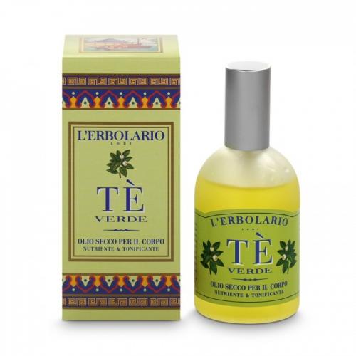 LERBOLARIO Масло сухое для тела Зеленый чай 100млМасла<br>Из гармоничного соединения трёх растительных масел, Авокадо, Жожоба и Зелёного Чая, рождается это инновационное средство по уходу за красотой кожи тела, которое дарит ей все необходимые элементы для самозащиты и улучшает, таким образом, эластичность, увлажняет и смягчает эпидермис. Неомыляющиеся фракции Оливкового масла и масла Ши совместно с драгоценными качествами Витамина Е борются с формированием свободных радикалов и замедляют процесс старения. Сухое Масло приятно в использовании, мгновенно впитывается кожей, не оставляя жирных следов, мягко  одевает  тело, делая кожу шелковистой, бархатистой и изысканно ароматизированной. Активные ингредиенты: Масло Авокадо (Persea gratissima) Из плода знаменитого растения семейства Лавровых добывается Масло, которое по своим характеристикам стабильности и высокой косметической функциональности, может быть расценено как одно из самых лучших масел, используемых в косметике. Ценное из-за содержания неомыляющихся фракций, богатое фитостерином и тритерпенными спиртами, оно эффективно предохраняет эпидермис от процесса старения.&amp;nbsp; Масло Жожоба (Buxus chinensis). Дерево Хохобы это вечнозелёный самшит, который растёт на пустынной почве. Его ароматные вещества находятся в семенах, богатых жидким воском, состоящим из кислот и ненасыщенных спиртов с длинной цепью. Масло жёлтого цвета и приятного запаха идеально подходит для смягчения и питания кожи, в особенности сухой и обезжиренной.&amp;nbsp; Масло Зелёного Чая (Camelia sinensis) Из семян Камелии в Японии добывают драгоценное масло, подобное секрету сальных желез, богатое полиненасыщенными жирами (Линолевый   Линоленовый), которые содержат высокую дозу неомыляющейся фракции и дарят эпидермису необходимое увлажнение и смягчение, предохраняя, таким образом, от преждевременного старения.&amp;nbsp; Неомыляемая фракция Оливкового масла (Olea europea). Происходит из плода Оливкового дерева, неомыляемая, богатая растительными 