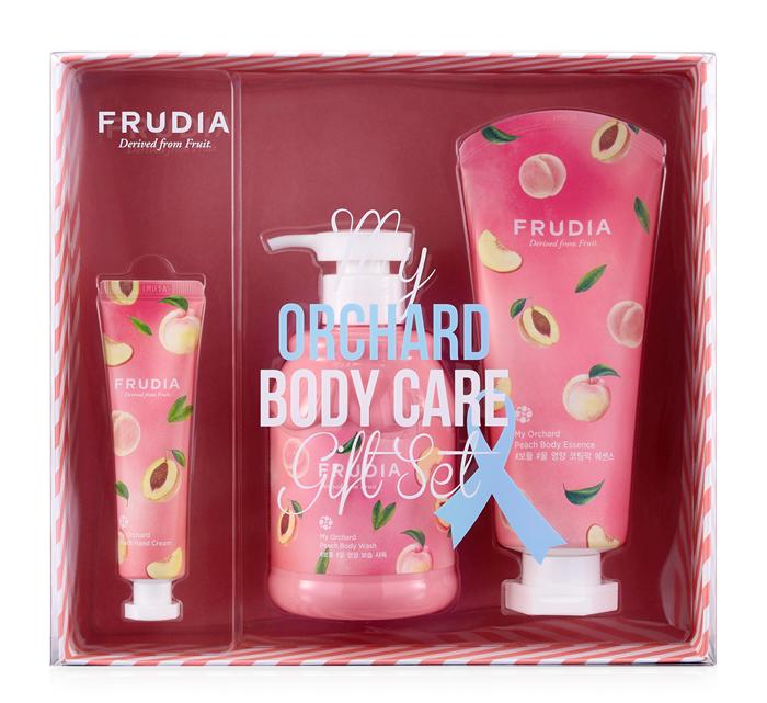 Купить FRUDIA Набор подарочный для тела Персик (гель для душа 350 мл, молочко 200 мл, крем 30 г)
