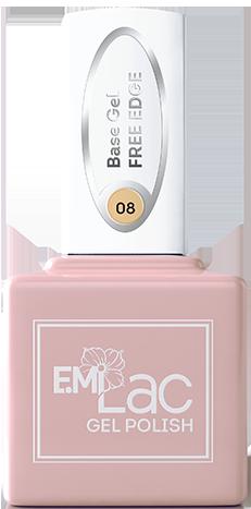 База гель-лаковая эластичная для ногтей № 08 / E.MiLac Base Gel Free Edge 9 мл