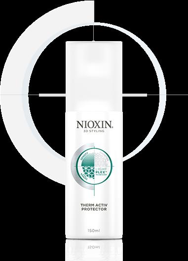 NIOXIN Термозащитный спрей 150млСпреи<br>Предотвращает сухость, ломкость и безжизненность волос. Придает им эластичность, упругость и дополнительный объем. Обеспечивает прическе легкую подвижную фиксацию и натуральный блеск. Не требует смывания.  NIOXIN 3D Стайлинг - новая линия укладочных средств. Дополняет трехступенчатые системы ухода NIOXIN по решению проблем волос и является четвертым шагом на пути к их здоровью. Основа 3D Стайлинга Легкость &amp;amp; Подвижность - современная технология LightPlex , которая работает как внутри, так и снаружи волоса. Поддерживает здоровье кожи головы и волос. Протестирован дерматологами. Активные ингредиенты: современная технология LightPlex . Входящие в состав системы кондиционирующие вещества проникают в глубокие слои волоса, поддерживают необходимый уровень увлажнения и защищают от вредного воздействия окружающей среды. Гибкие полимеры окутывают волосы невесомой оболочкой, обеспечивая легкость укладки без жесткой фиксации, сохраняя мягкость волос. Способ применения: наносится непосредственно перед укладкой горячими инструментами (фен, щипцы, утюжок). Равномерно распределите на подсушенных полотенцем волосах и расчешите их. Высушите феном и используйте горячий инструмент для активации защитного действия спрея. Придайте прическе необходимую форму. Средства Линии 3D Стайлинг рекомендуется совмещать с препаратами трехступенчатой системы NIOXIN для усиления действия и пролонгации их активных компонентов.<br><br>Типы волос: Для всех типов