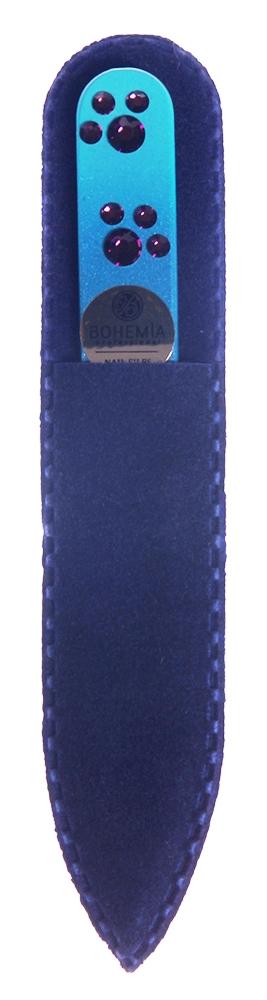 BOHEMIA PROFESSIONAL Пилочка стеклянная цветная Лапки 90ммПилки для ногтей<br>Нет ничего лучше для натуральных ногтей, чем пилка из богемского хрусталя. Данный материал имеет практически неограниченный срок использования. Пилки Bohemia Professional имеют наиболее стойкий абразив. Пилка из богемского хрусталя также может стать стильным аксессуаром или красивым подарком. Bohemia Professional представляет Вам огромный выбор прозрачных и цветных пилок с декором: ручная роспись, декорация стразами, пилки с логотипом, и полноцветные изображения. Инструмент можно стерилизовать и обрабатывать химическими дезинфекторами, антисептиками.<br>