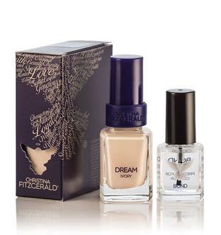 CHRISTINA FITZGERALD Лак для ногтей Слоновая кость + BOND / Dream 12 9 мл
