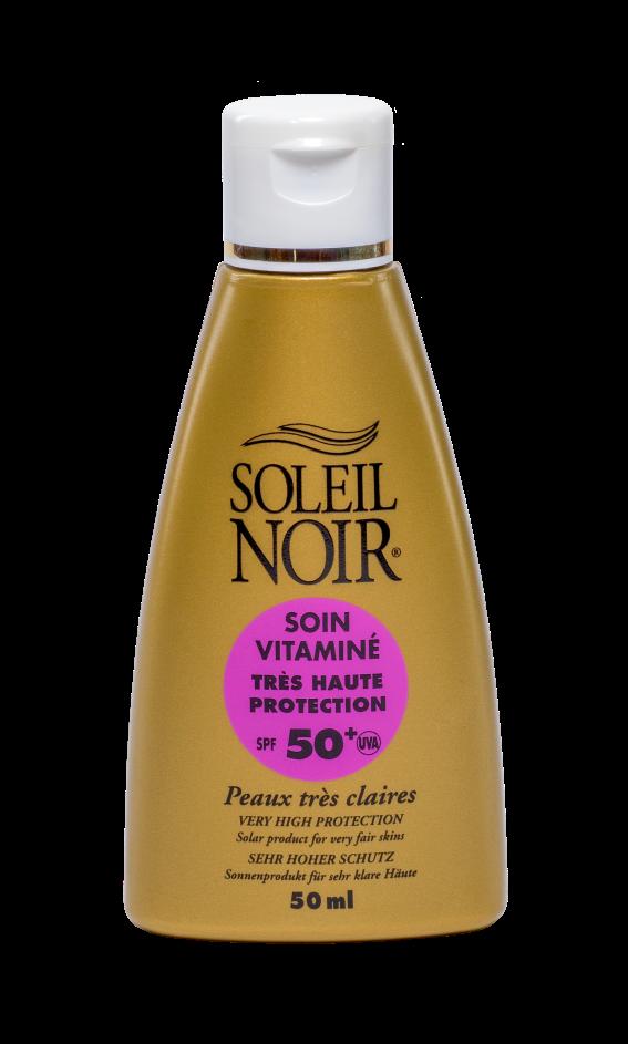 SOLEIL NOIR Крем для детской и чувствительной кожи Высокая степень защиты SPF50+ / SOIN VITAMINE 50млКремы<br>Солнцезащитный витаминзированный крем для лица SOLEIL NOIR   идеальное решение для защиты кожи от негативных последствий воздействия солнечных лучей. Подходит для чувствительной кожи, в том числе для детской. Активные ингредиенты:   1 физический и 5 химических фильтров защиты от лучей спектра А и В   Витамин Е оказывает антиоксидантное действие Способ применения: нанести перед выходом на солнце. Обновлять слой средства для поддержания защиты.<br><br>Защита от солнца: None